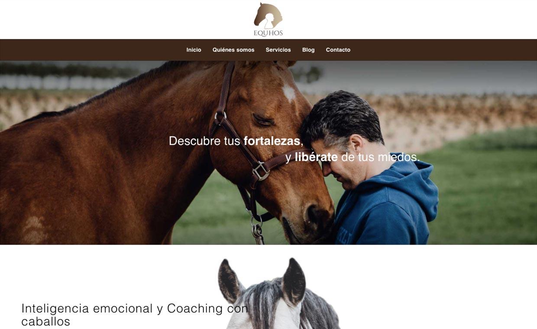 Web Equhos Coaching con caballos Huelva