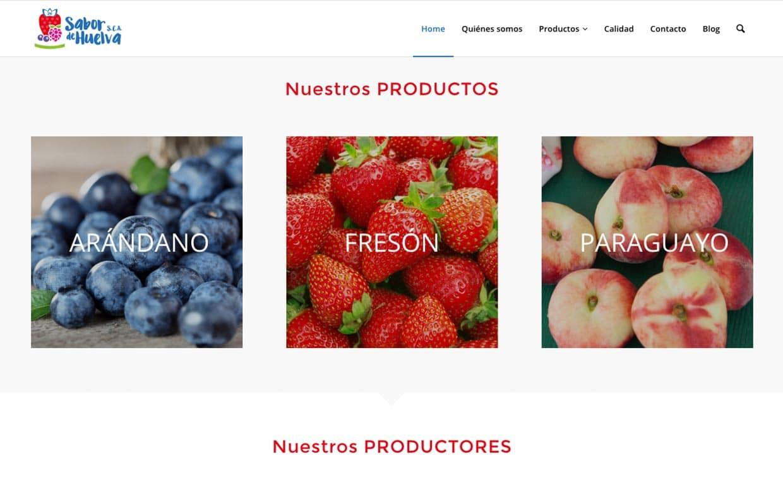 Página Web Sabor de Huelva