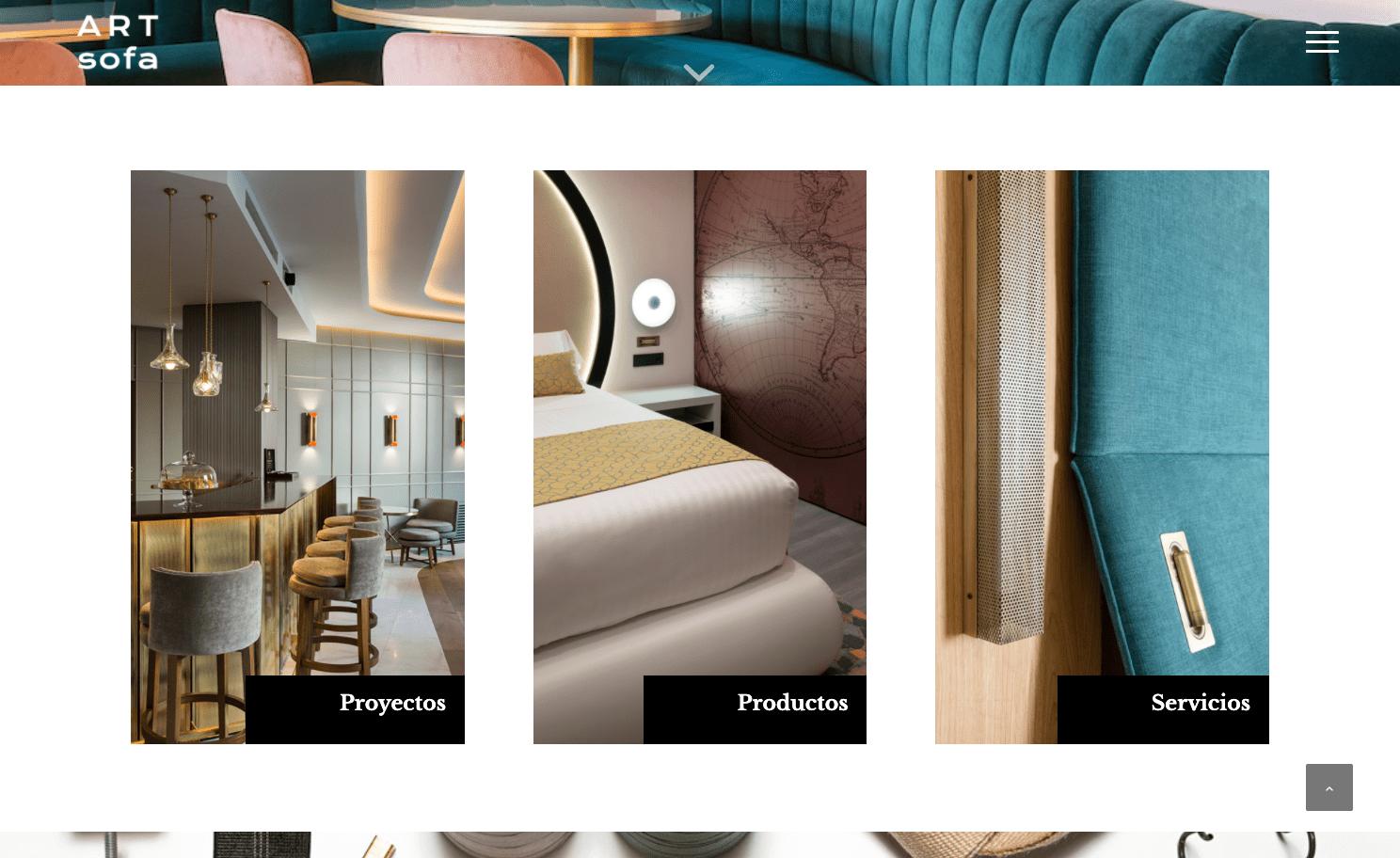 Diseño Página Web ARTsofa Contract