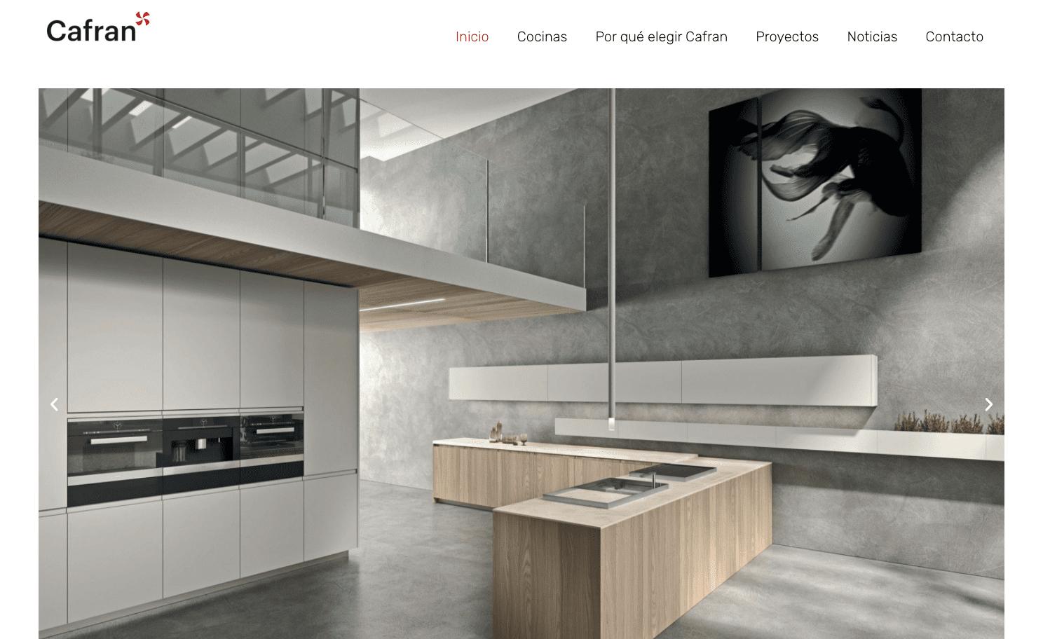 Diseño Página Web Cafran Cocinas