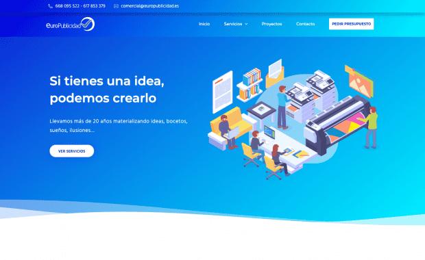 Diseño Página Web Europublicidad