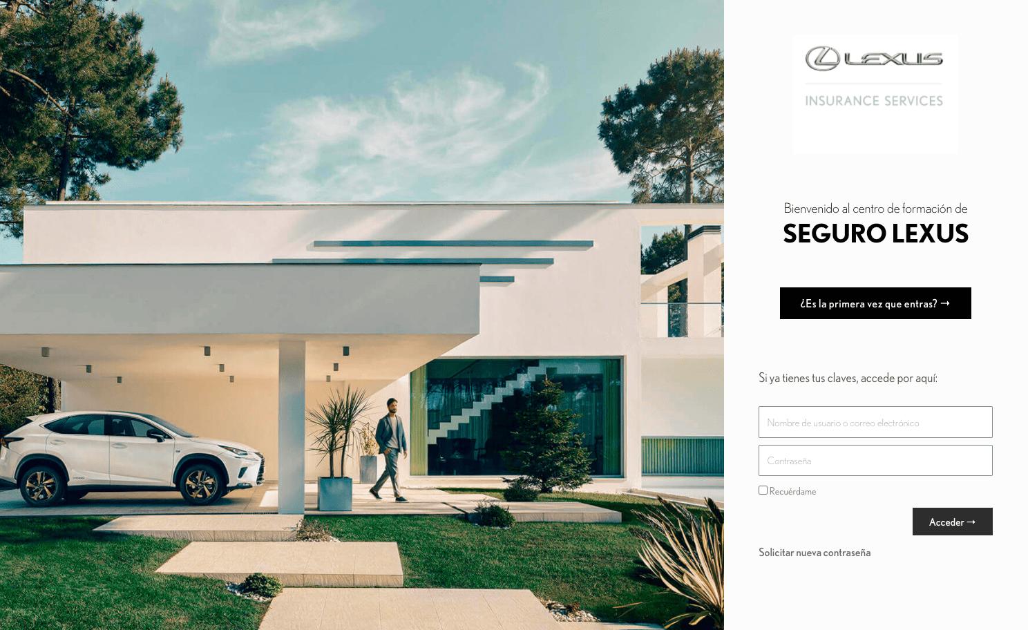 Diseño Página Web Seguros Lexus