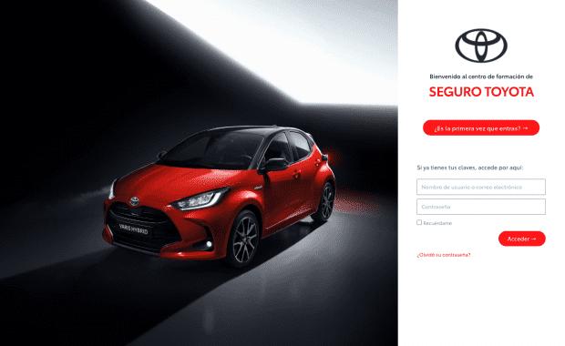 Diseño Página Web Seguros Toyota