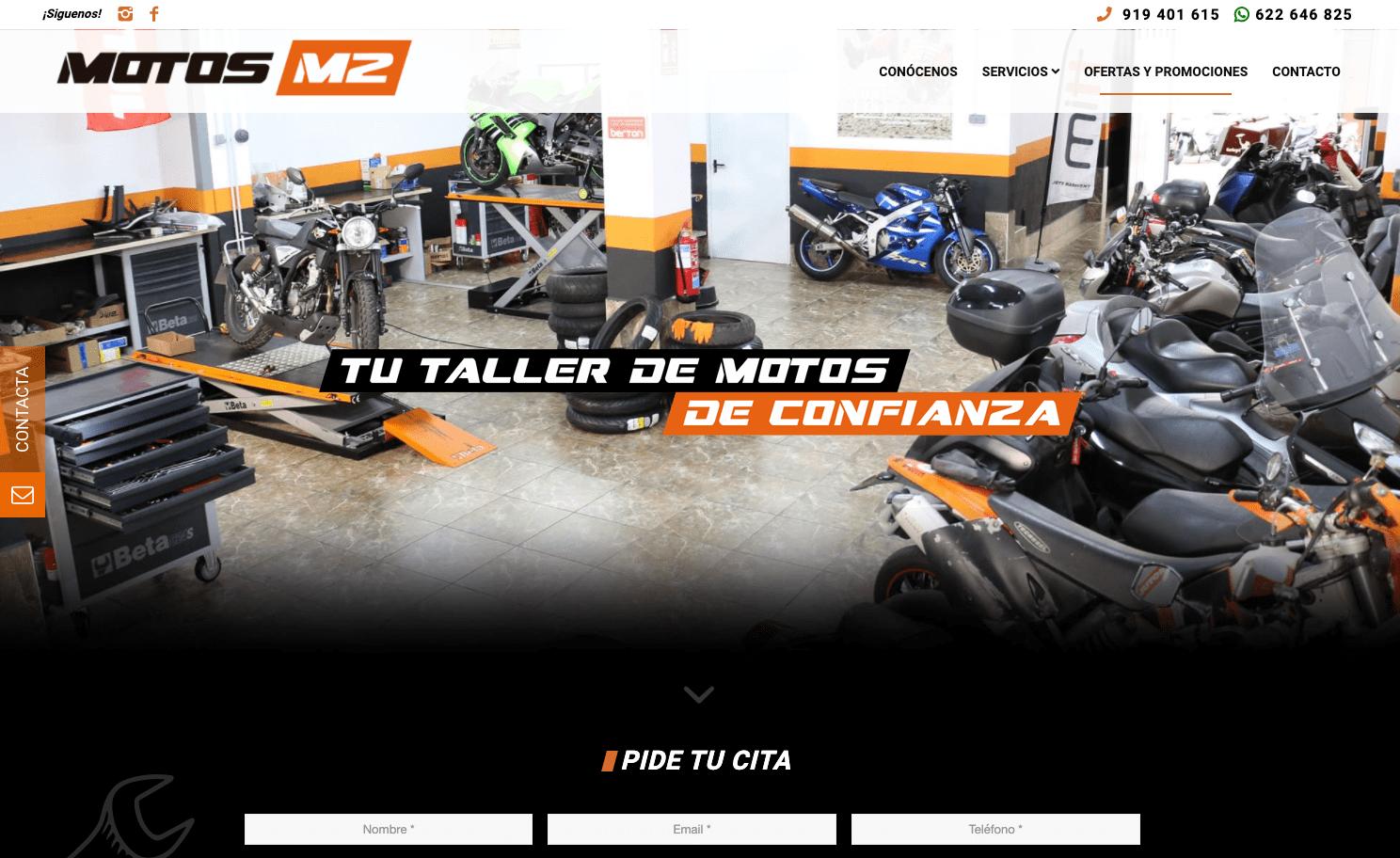 Diseño Página Web Motos M2