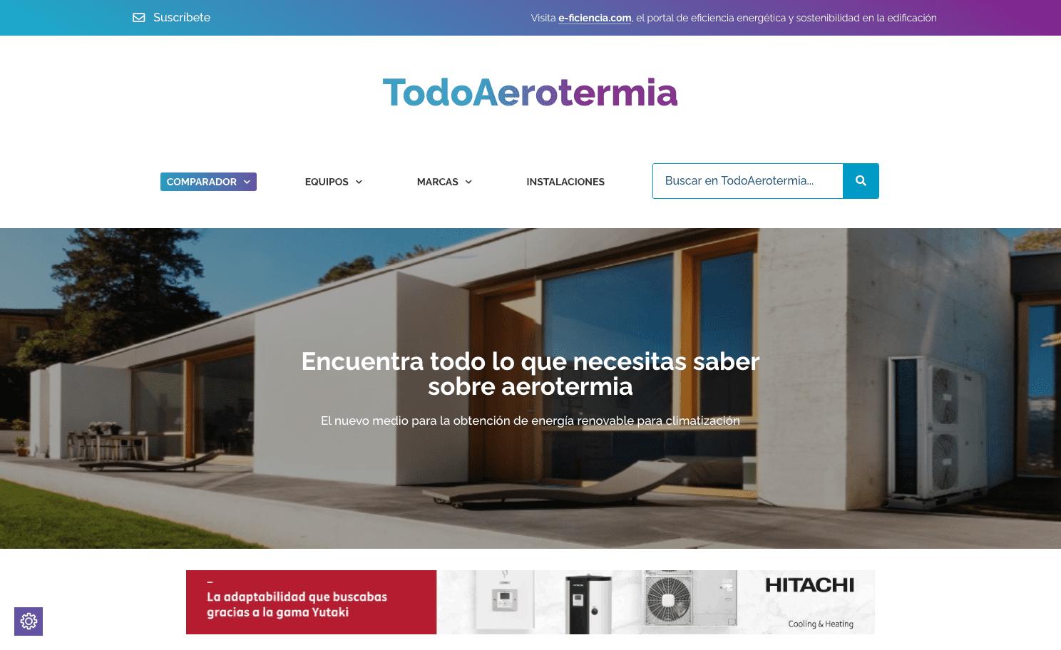 Diseño Página Web Todoaerotermia